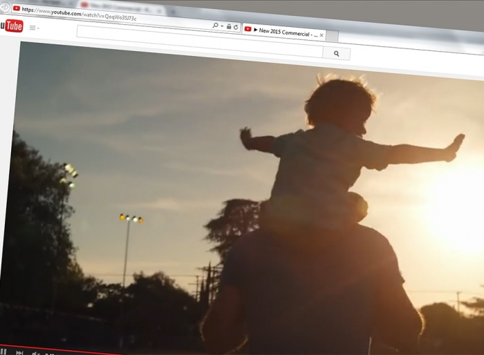 Image of video ad online